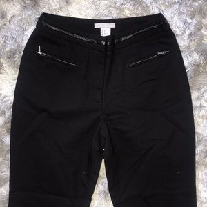 Skinny cropped black dress pants
